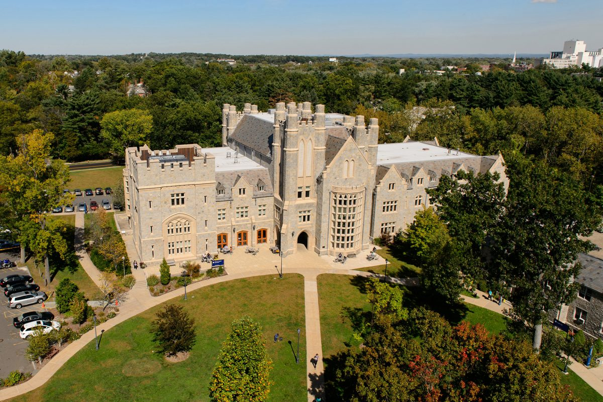 Aerial Picture of UConn Law Library